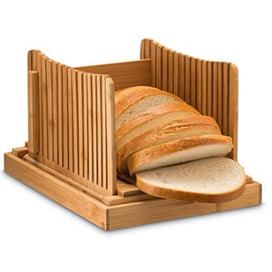 bamboo bread slicer cutting guide