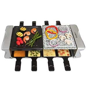cucinapro dual cheese raclette grill