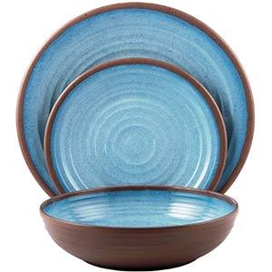 melange melamine dinnerware sets- 12 piece