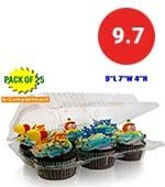 6-compartment muffin/cake container