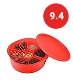 tupperware spice it red container