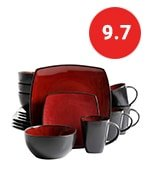 square reactive glaze dinnerware