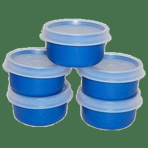 Tupperware Blue Smidget Containers