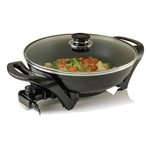ovente electric skillet wok